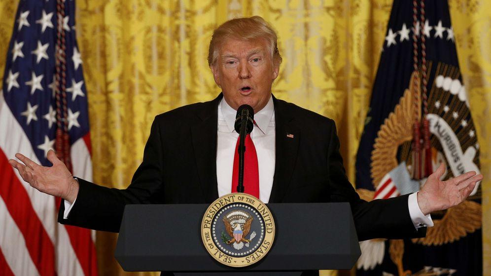 Foto: Donald Trump durante la rueda de prensa (Reuters)