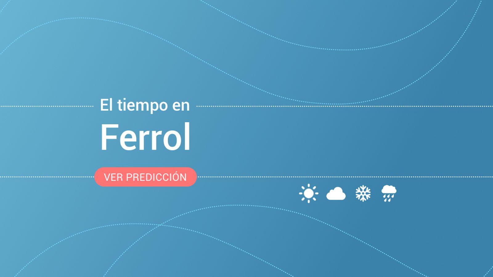Foto: El tiempo en Ferrol. (EC)