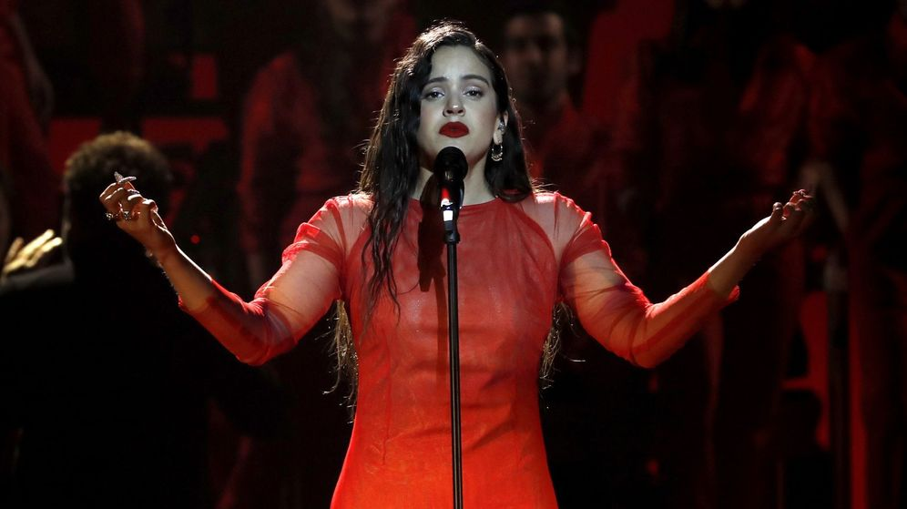 Foto: Rosalía actuando en la gala. (EFE)