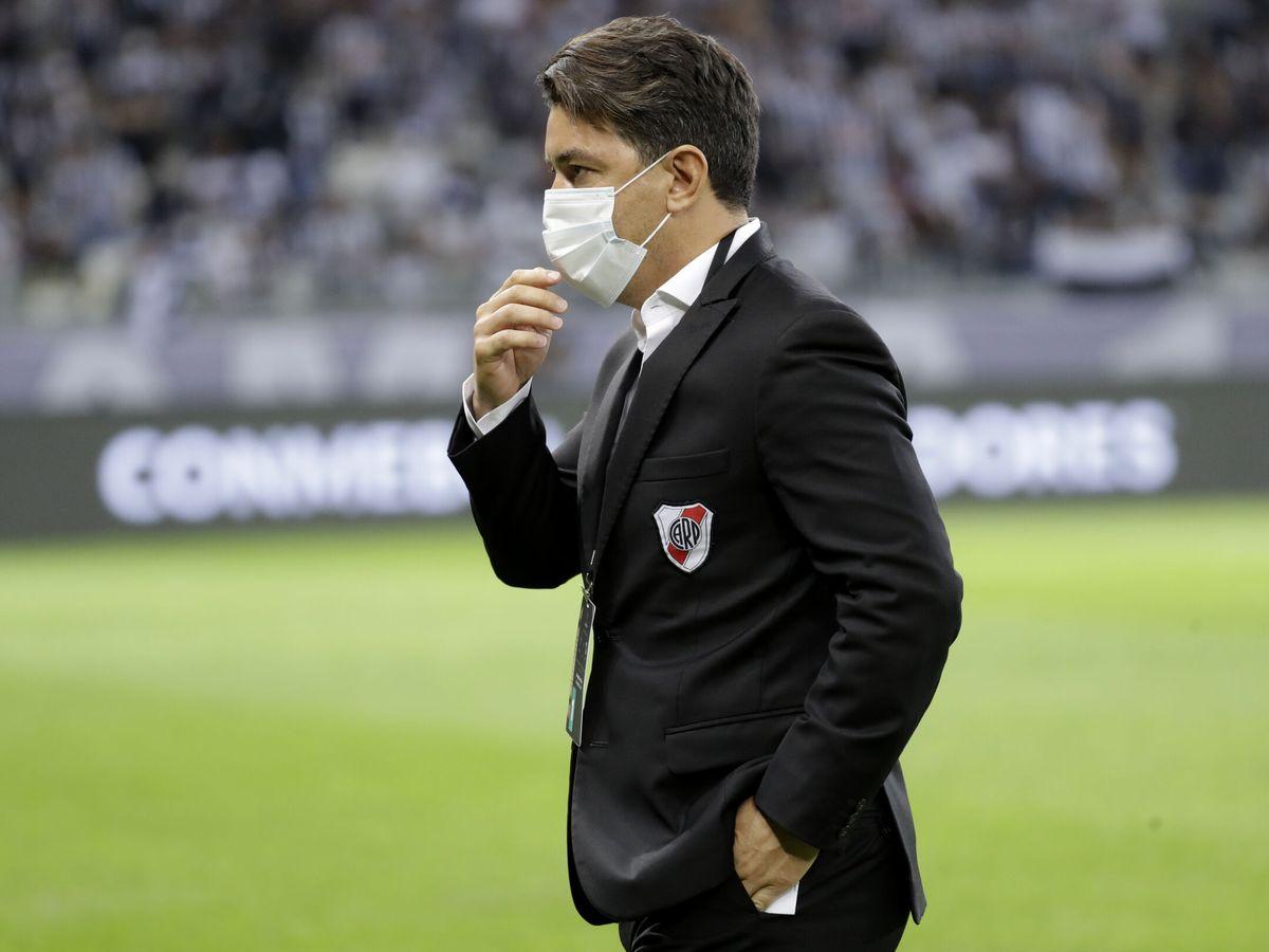 Foto: Marcelo Gallardo, en un partido de Libertadores con River. (Reuters)