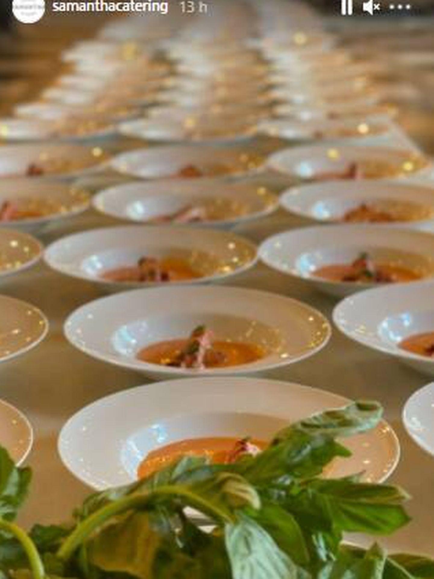 Parte del menú servido en la boda. (Gtres)