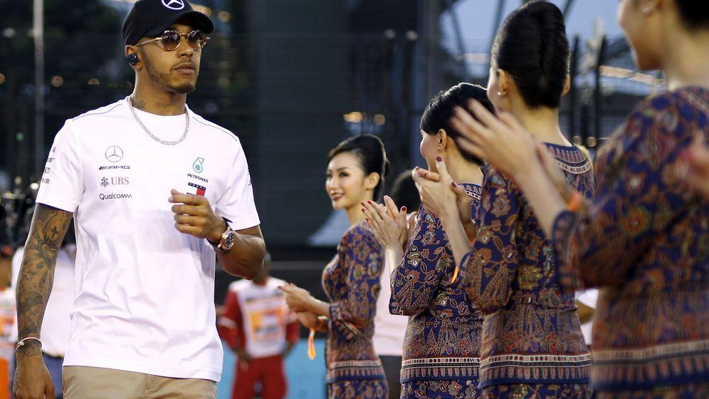Foto: Lewis Hamilton, este domingo en Singapur. (Reuters)