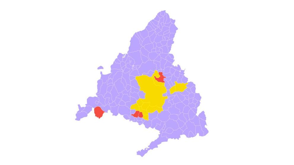 Así queda el mapa de cierres en Madrid con las limitaciones de Sanidad y la CAM