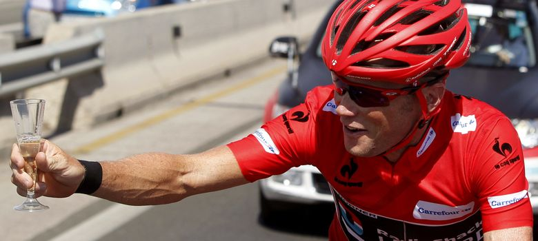 Foto: Chris Horner, durante la etapa de este domingo en la Vuelta a España.