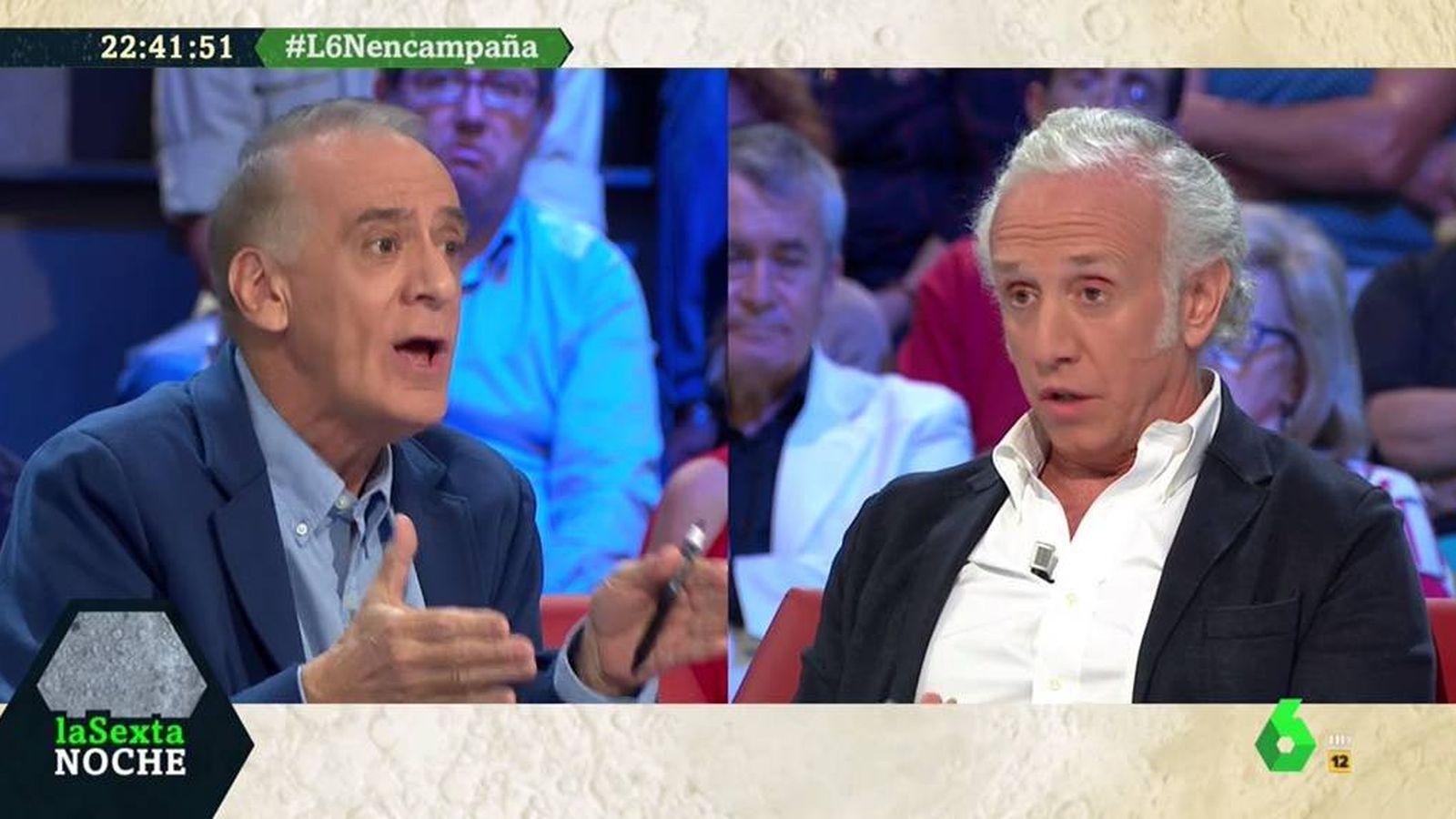 Foto: Ignacio Cembrero y Eduardo Inda, en 'La Sexta noche'. (Atresmedia).