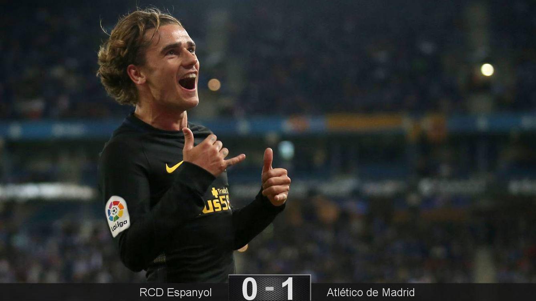 Foto: Griezmann celebra su gol en el Espanyol-Atlético de Madrid. (Reuters)