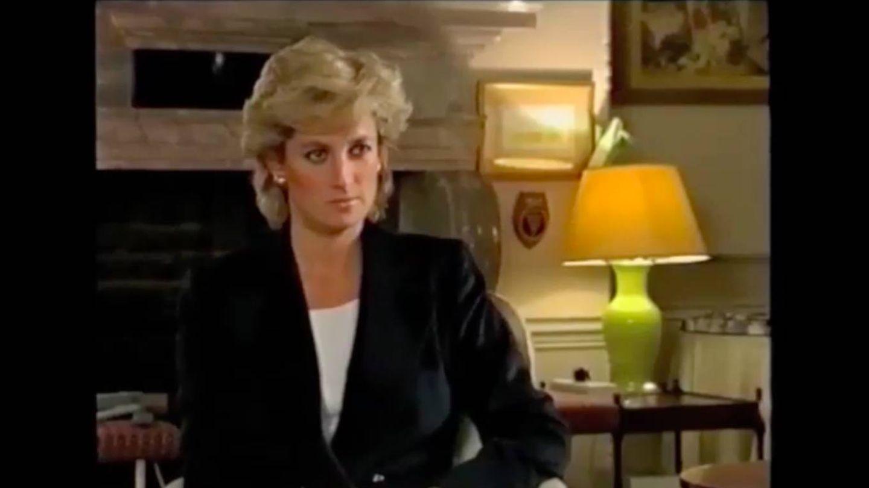 Diana, durante la entrevista de 1995. (YouTube)
