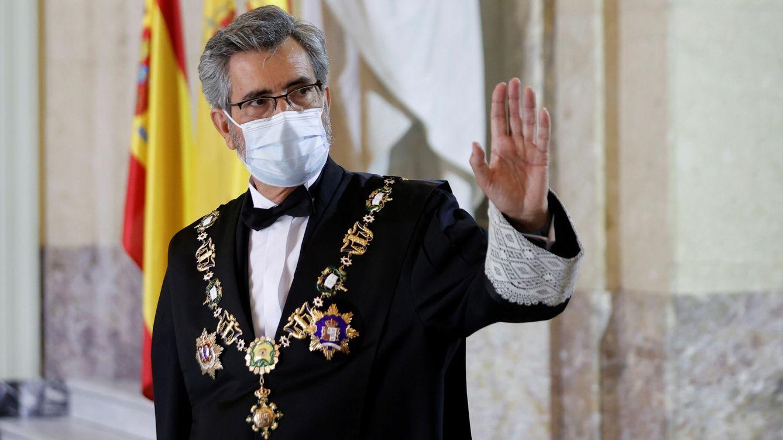 Foto: El presidente del Tribunal Supremo y del Consejo General del Poder Judicial, Carlos Lesmes, durante la celebración este lunes del acto de apertura del año judicial. (EFE)