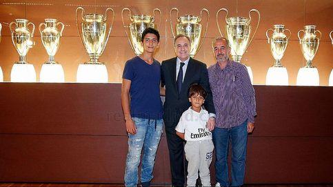 Florentino Pérez y el Real Madrid hacen feliz al refugiado Osama y su hijos
