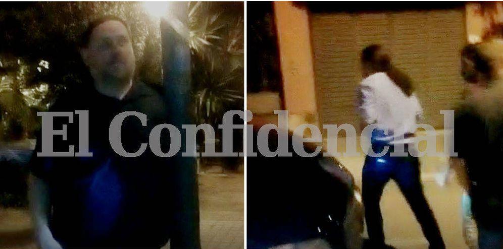 Foto: Junqueras e Iglesias llegaron por separado a casa de Roures. (EC)