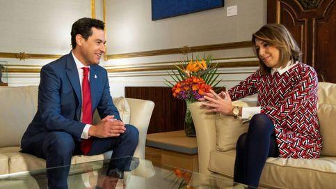 Cambio de papeles: Moreno y Díaz ensayan el gran pacto en Andalucía