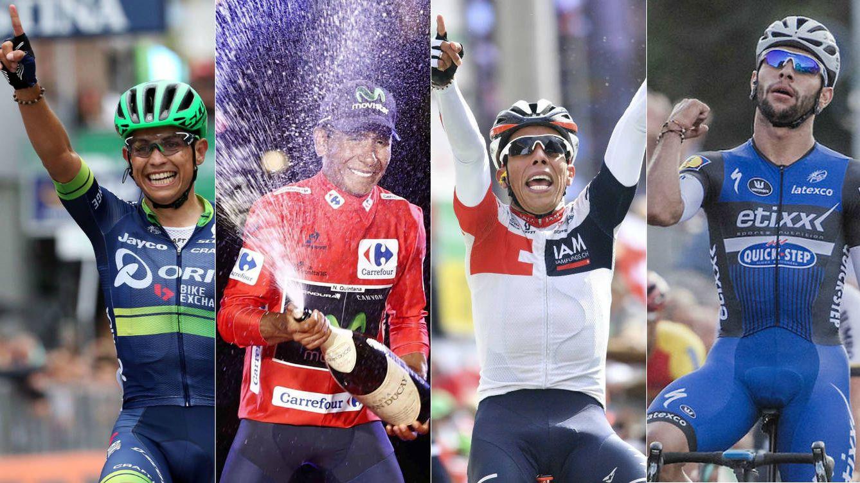 Foto: Chaves, Quintana, Pantano y Gaviria, cuatro ejemplos del crecimiento del ciclismo colombiano (Agencias).