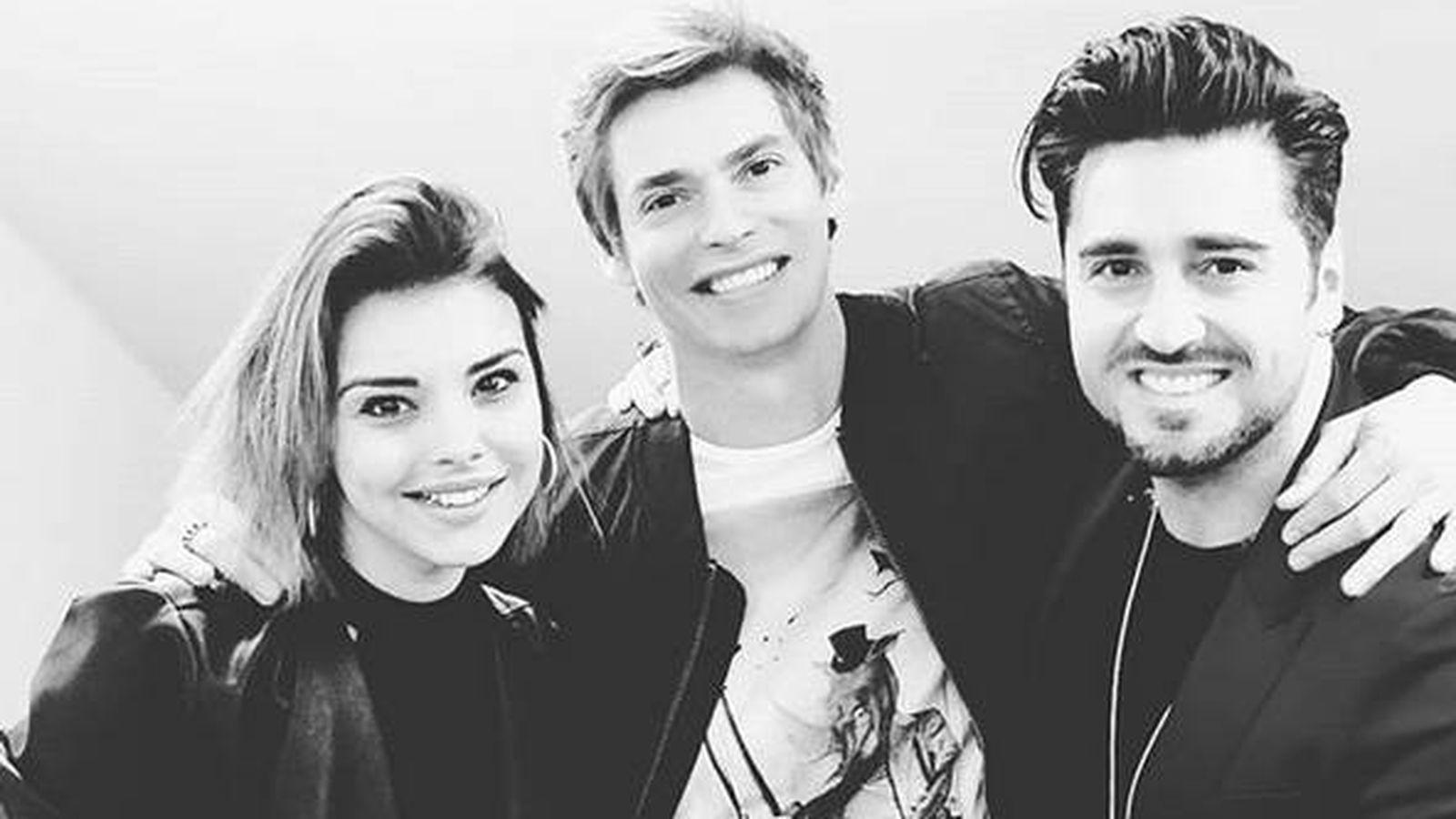 Foto: Chenoa, Baute y Busta. (Instagram)