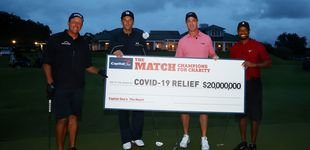 Post de Tiger Woods, el hoyo desde más de 100 metros y el partido de los veinte millones