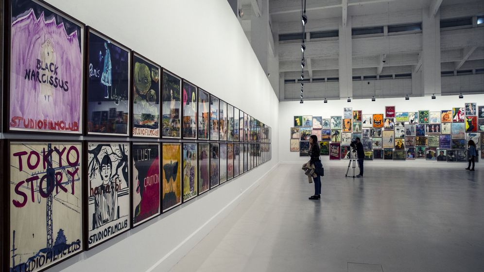 Foto: Exposición de Peter Doig titulada 'studiofilmclub', en el CAC Málaga. (EFE)