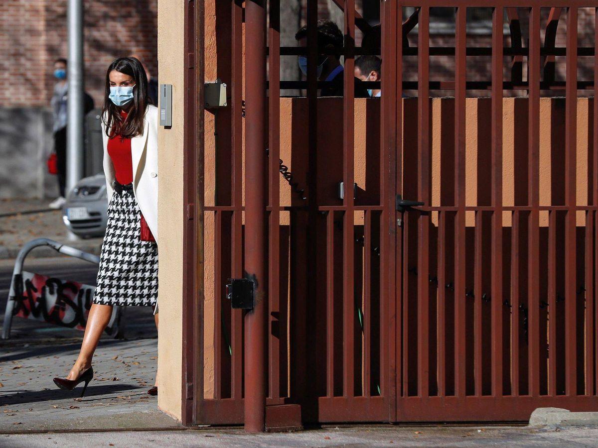 Foto: La reina Letizia, este martes en Madrid. (Limited Pictures)