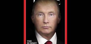 Post de Donald Trump y Vladimir Putin se fusionan en la portada de la revista Time