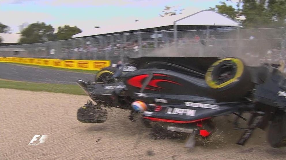 Rosberg gana el GP de Australia con el tremendo susto del accidente de Alonso