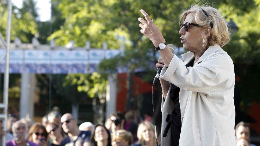 Foto: Manuela Carmena en un acto electoral. (Efe)