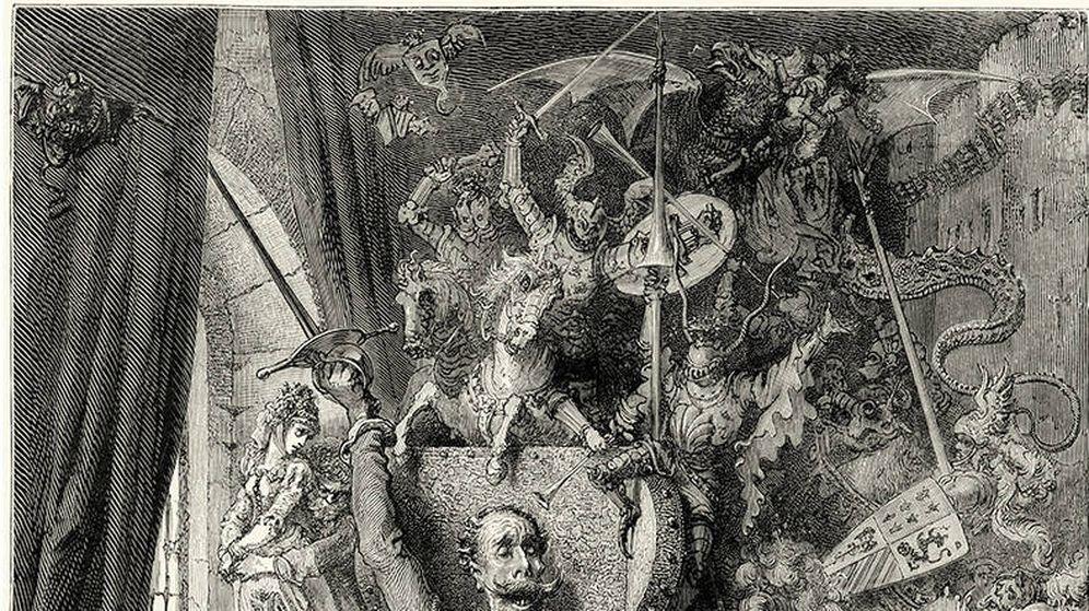 Foto: Ilustración del Quijote de Doré.