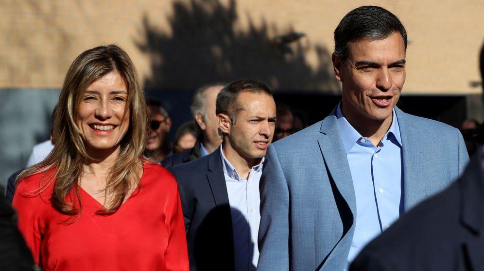 Foto: Begoña Gómez en una imagen de la campaña. (EFE)