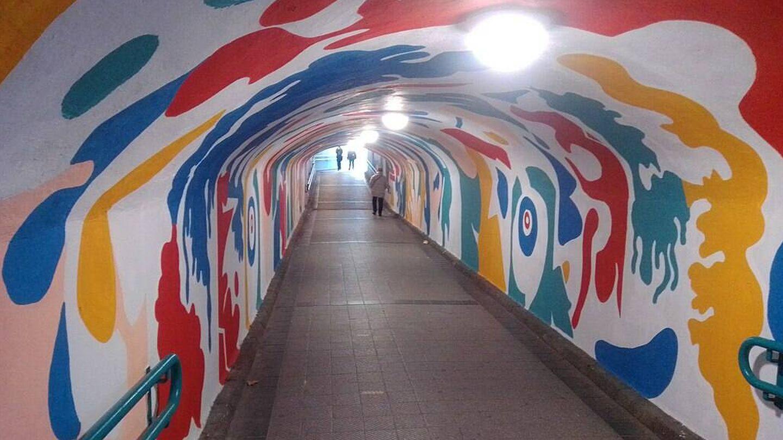 El Túnel de las Delicias de Valladolid a comienzos de 2020. (Wikiwand)