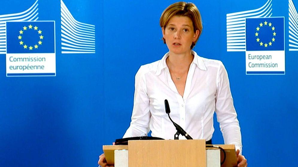 Foto: Annika Breidthardt, portavoz de la Comisión Europea. (EFE)