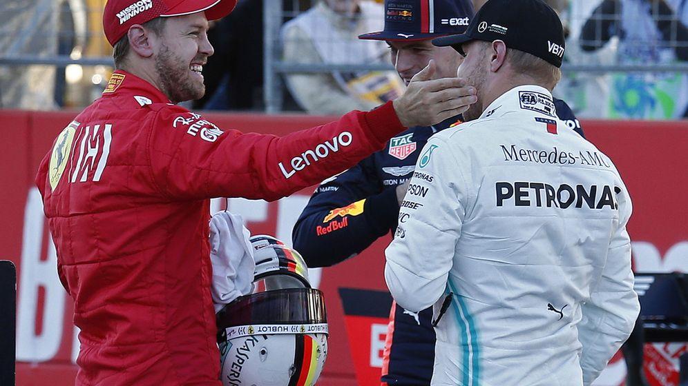 Foto: Bottas, Vettel y Verstappen fueron los tres pilotos más rápidos en clasificación. (EFE)
