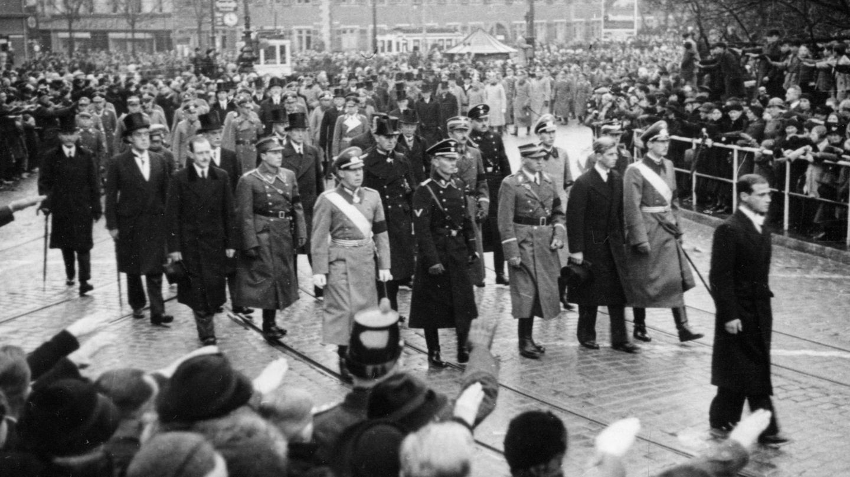 Felipe, en el funeral en Darmstadt, Alemania. (Cordon Press)