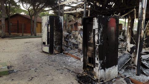 Así ha quedado el camping de Doñana tras el incendio en Huelva