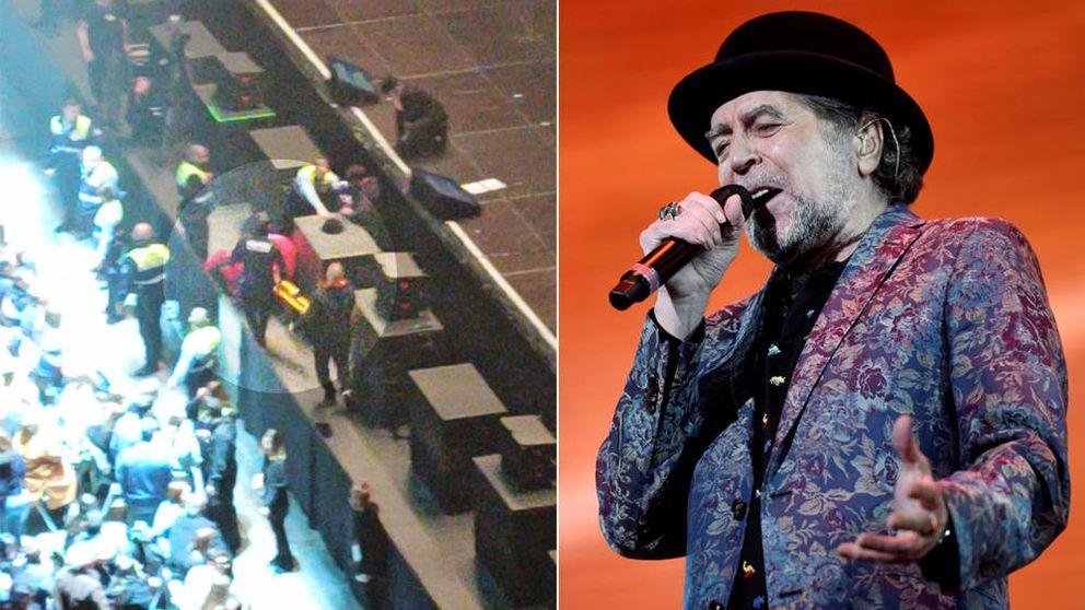 Joaquín Sabina suspende su concierto en Madrid tras caerse del escenario