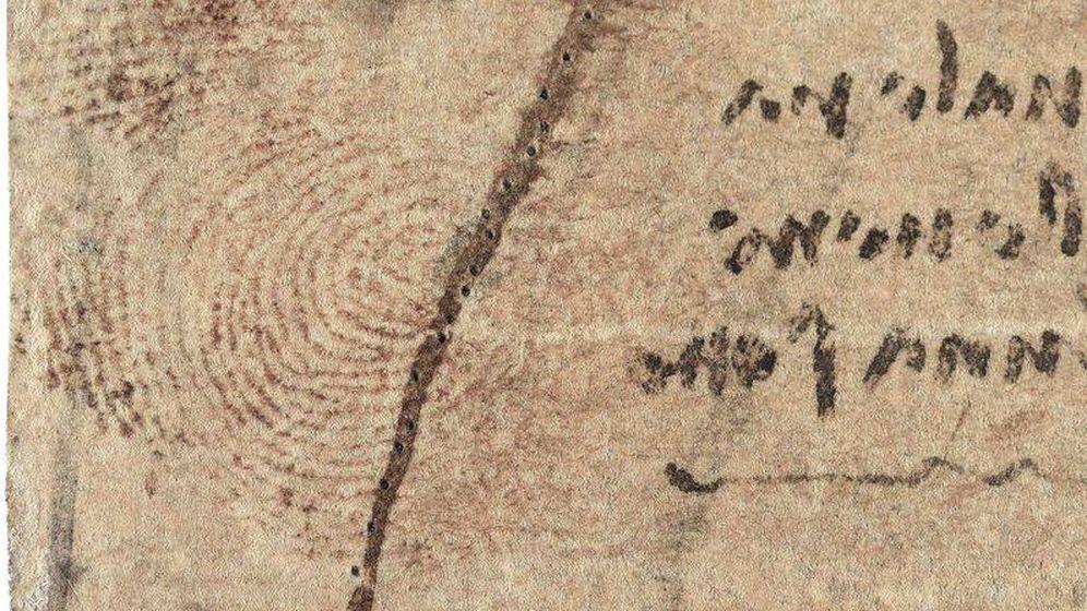 Foto: Huella de Leonardo Da Vinci (Royal Collection Trust)