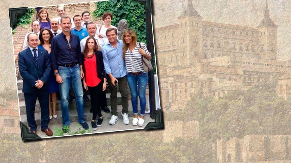 Foto: El Rey Felipe y sus amigos en un fotomontaje realizado en Vanitatis