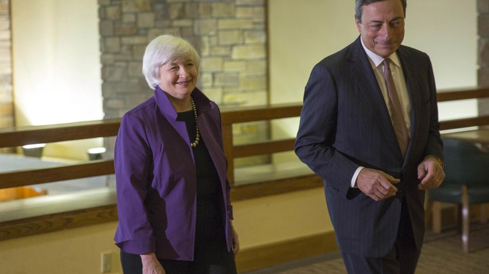 Foto: La presidenta de la Reserva Federal, Janet Yellen, y el presidente del Banco Central Europeo, Mario Draghi. (Reuters)