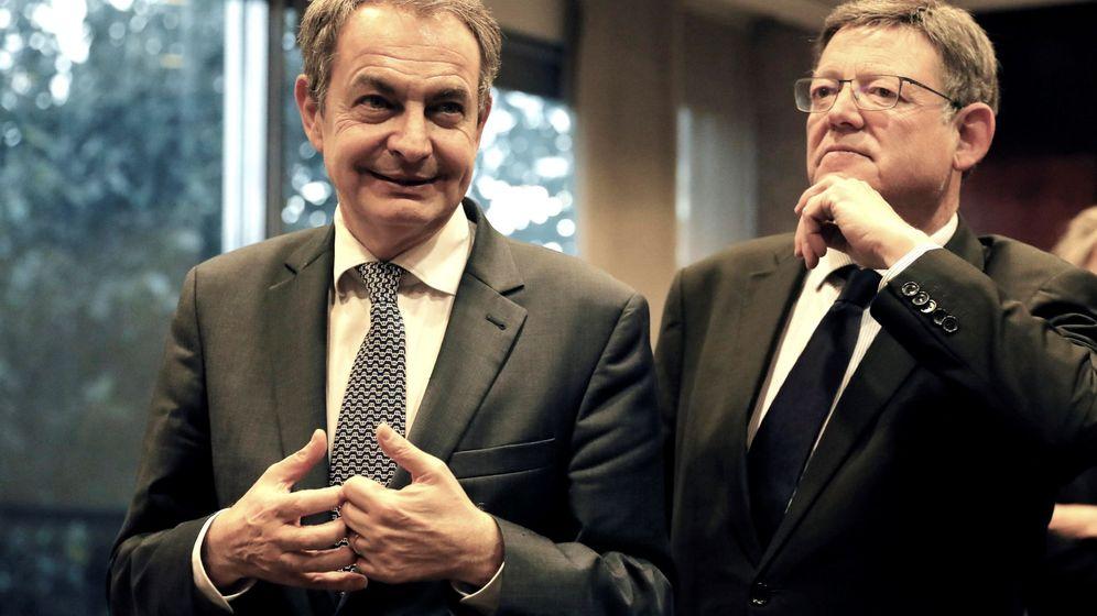Foto: Zapatero, la semana pasada, con Ximo Puig en Valencia. (EFE)