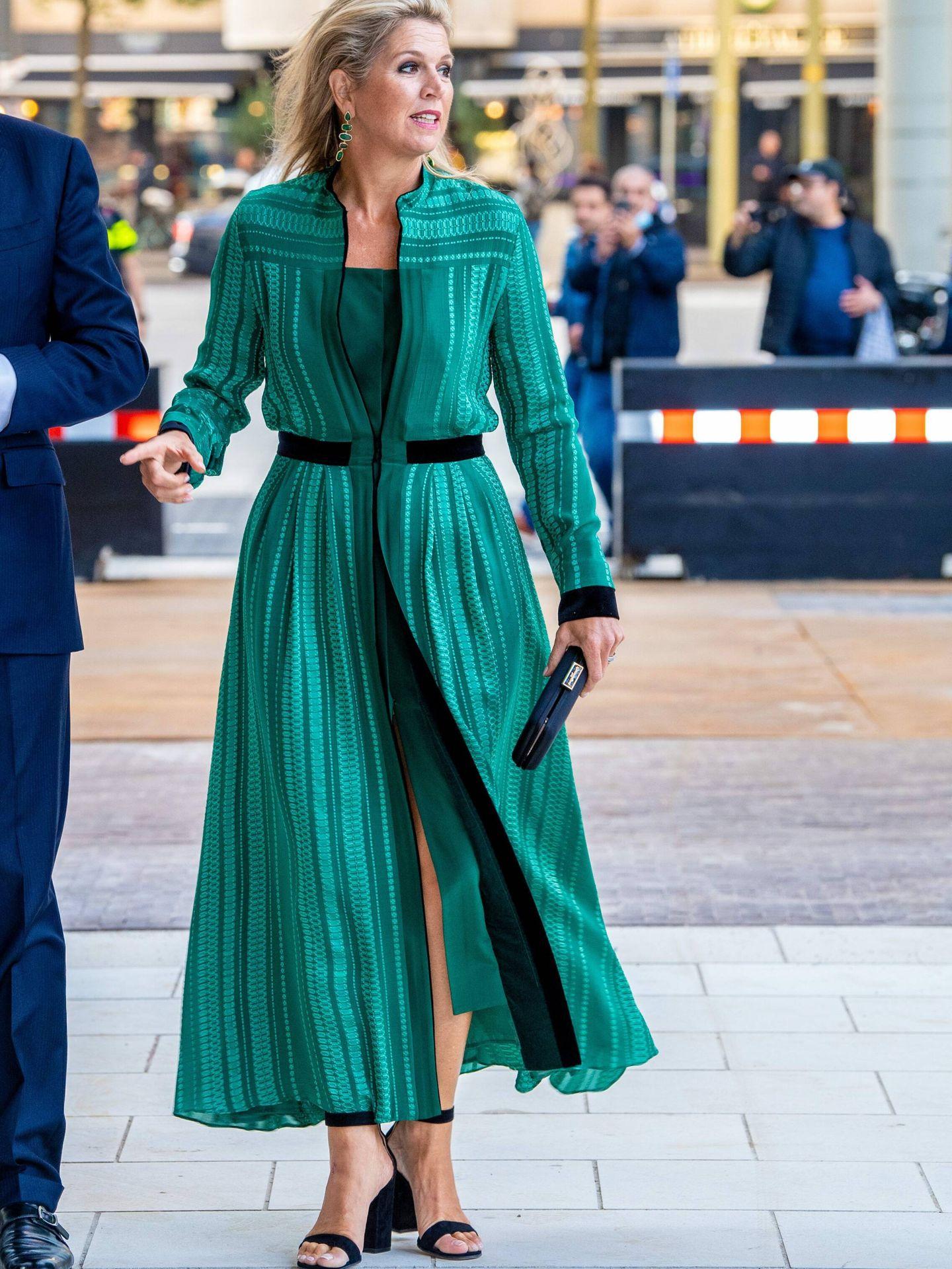 La reina Máxima, con taconazos de Gianvito Rossi. (CP)