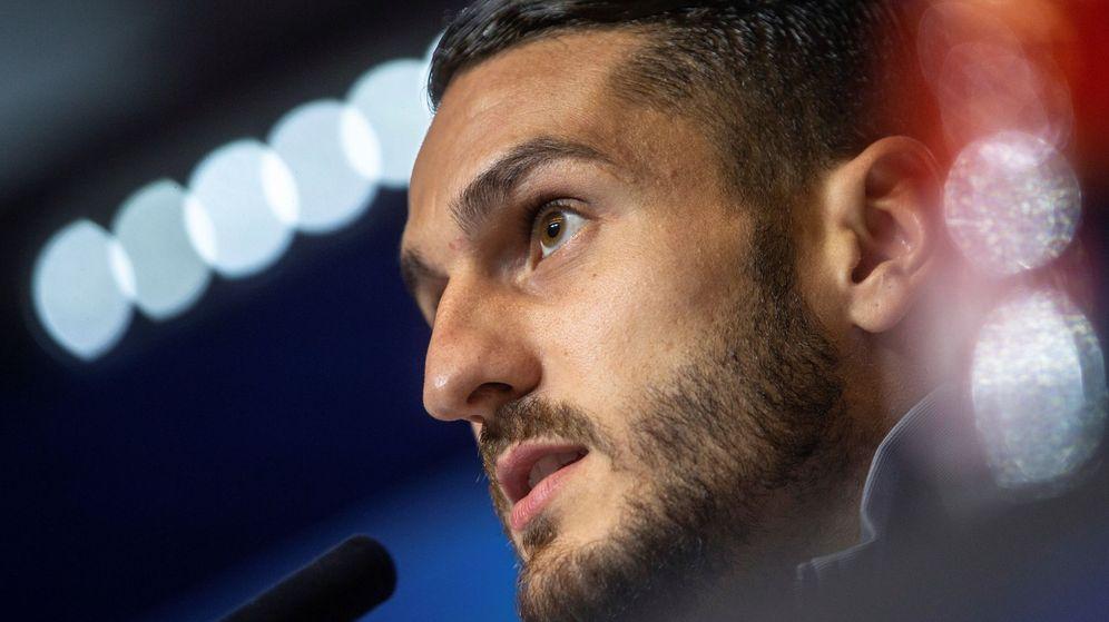 Foto: Koke, capitán del Atlético de Madrid, durante una rueda de prensa. (EFE)