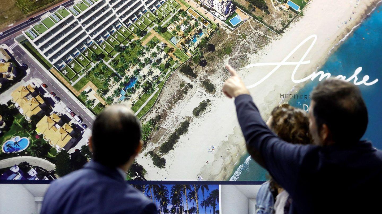 Una promoción en la feria inmobiliaria Urbe de Valencia. (EFE)