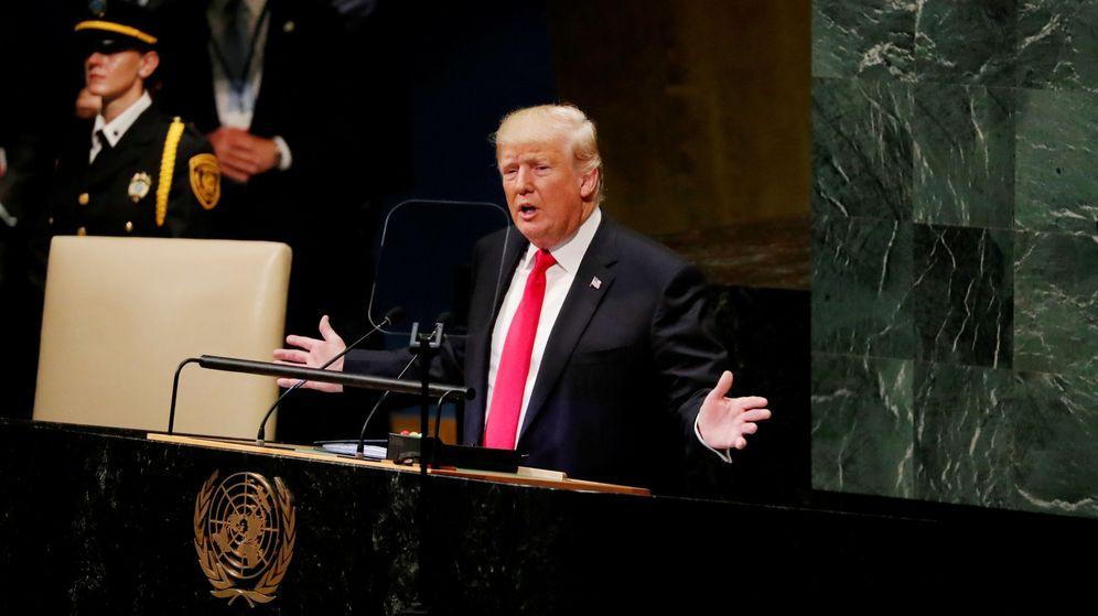 Foto: El presidente Donald Trump habla durante la 73ª Asamblea General de Naciones Unidas, el 25 de septiembre de 2018. (Reuters)