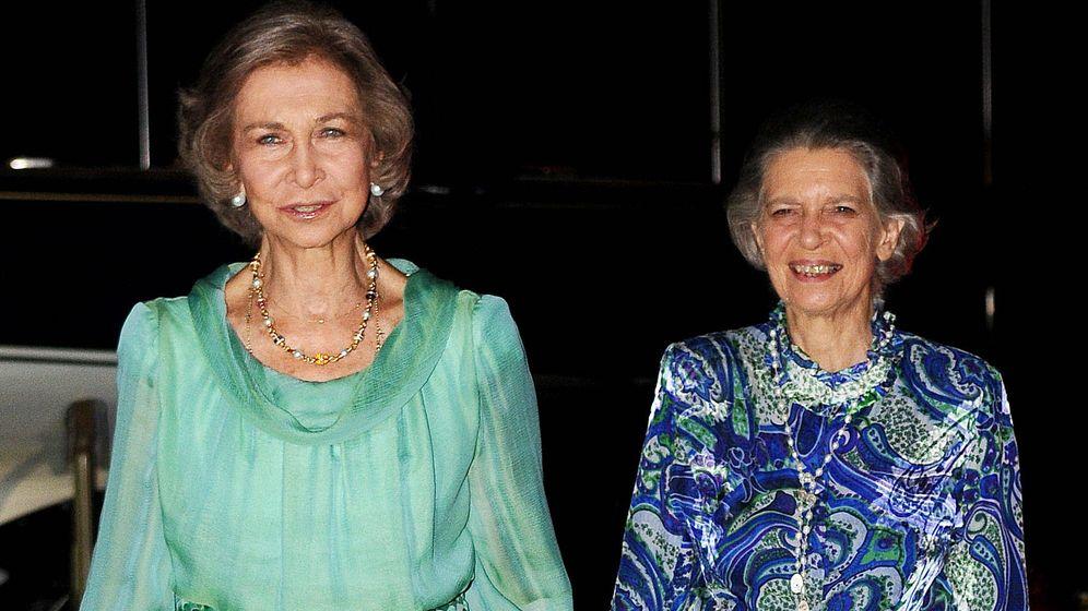 Foto: La reina Sofía y la princesa Irene. (Getty)