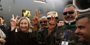 Foto: Clinton sobre Gadafi: Llegamos, vimos, él murió