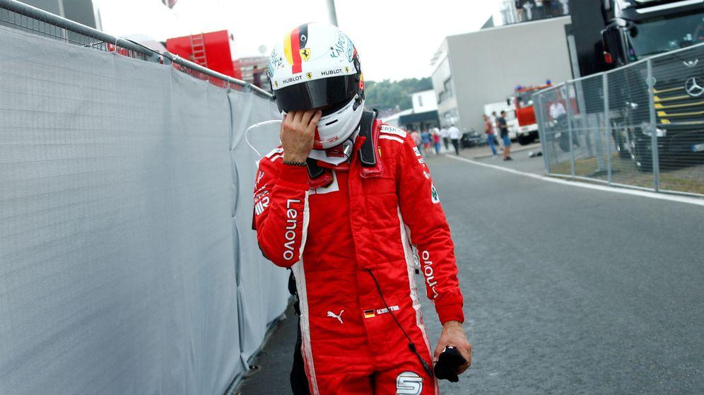 Foto: Vettel perdió el liderato del Mundial en su casa. (REUTERS)