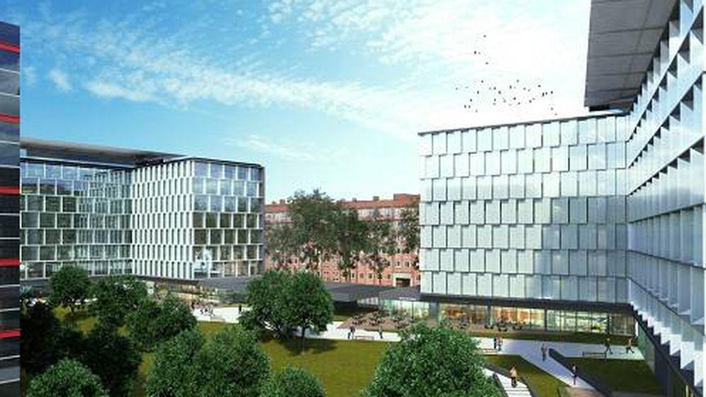 Foto: Imagen virtual del parque empresarial que Insur construye en Madrid. (Foto: Insur)