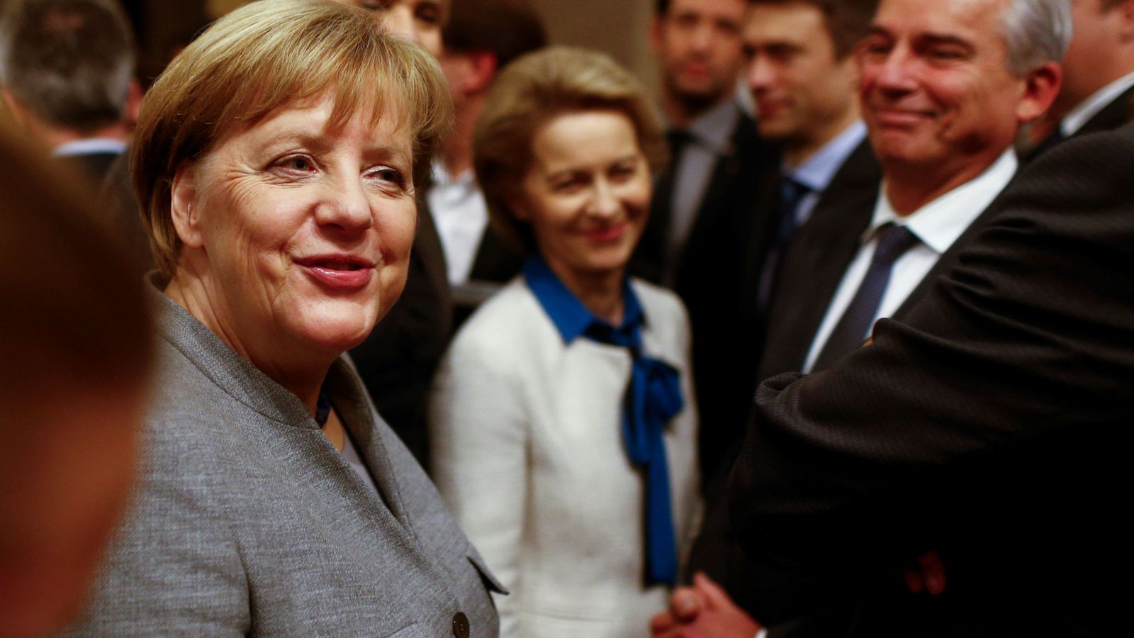 Foto: Merkel comparece en público tras el fracaso de las negociaciones, en Berlín, el 20 de noviembre de 2017. (Reuters)