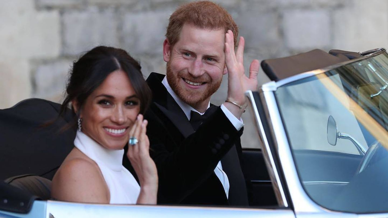 Meghan y Harry de camino al banquete. (Instagram Kensington Palace)