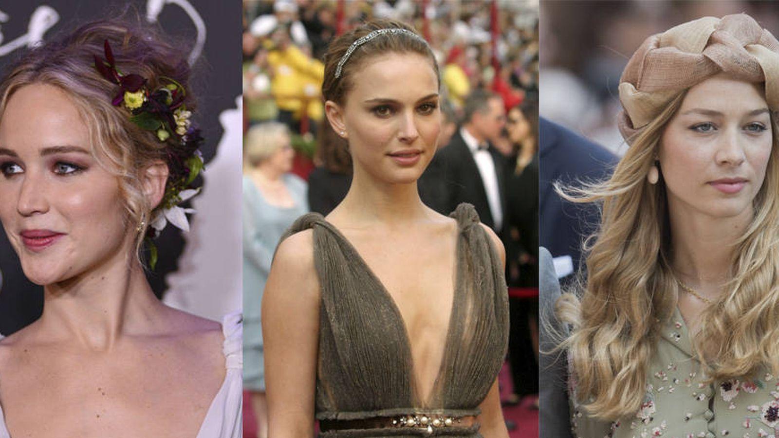 Foto: De Jennifer Lawrence a Natalie Portman o Beatrice Borromeo, o cómo llevar el tocado perfecto. (Fotos: Getty Images, Gtres)