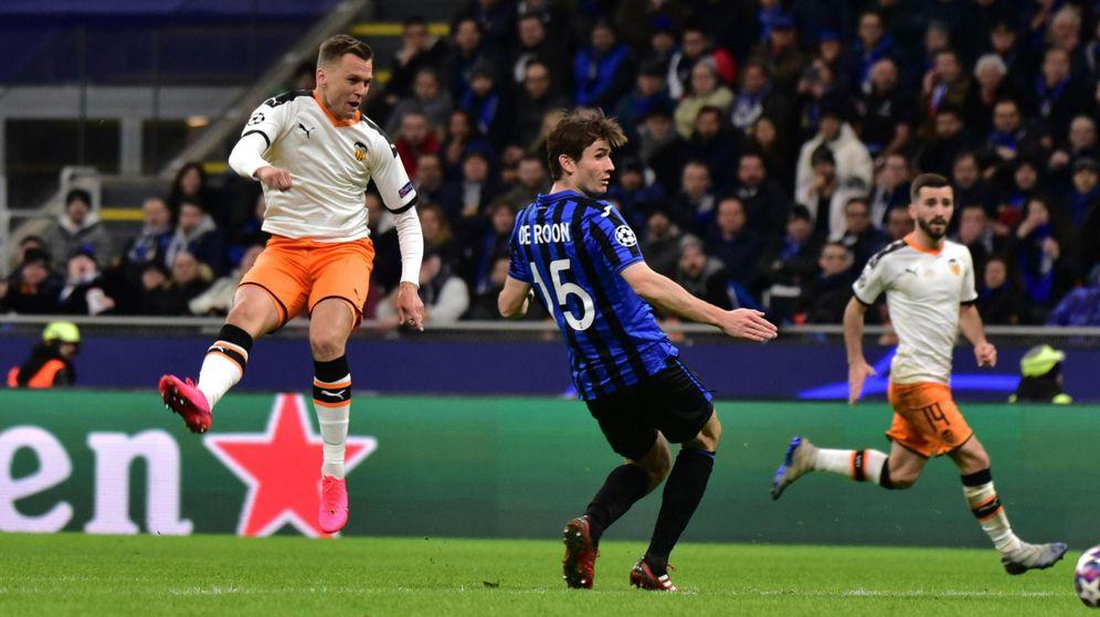 Foto: El Valencia perdió por 4-1 en la ida ante el Atalanta. (EFE)
