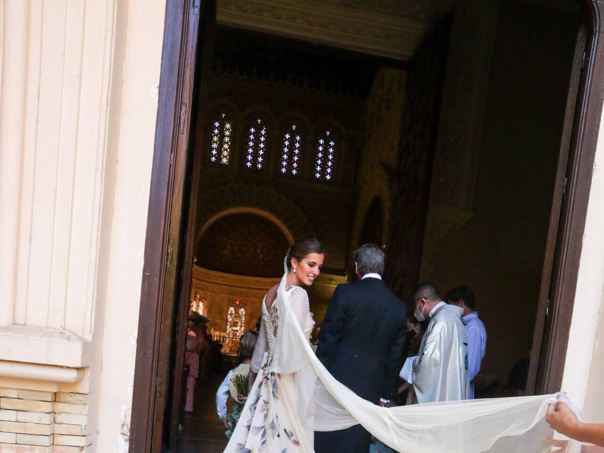 Foto: María Corsini en su boda. (Gtres)