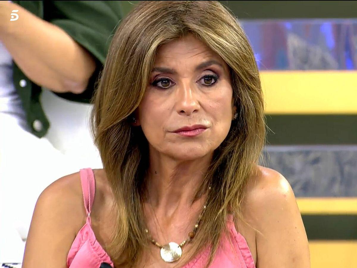 Foto: Gema López, en 'Sálvame'. (Telecinco)