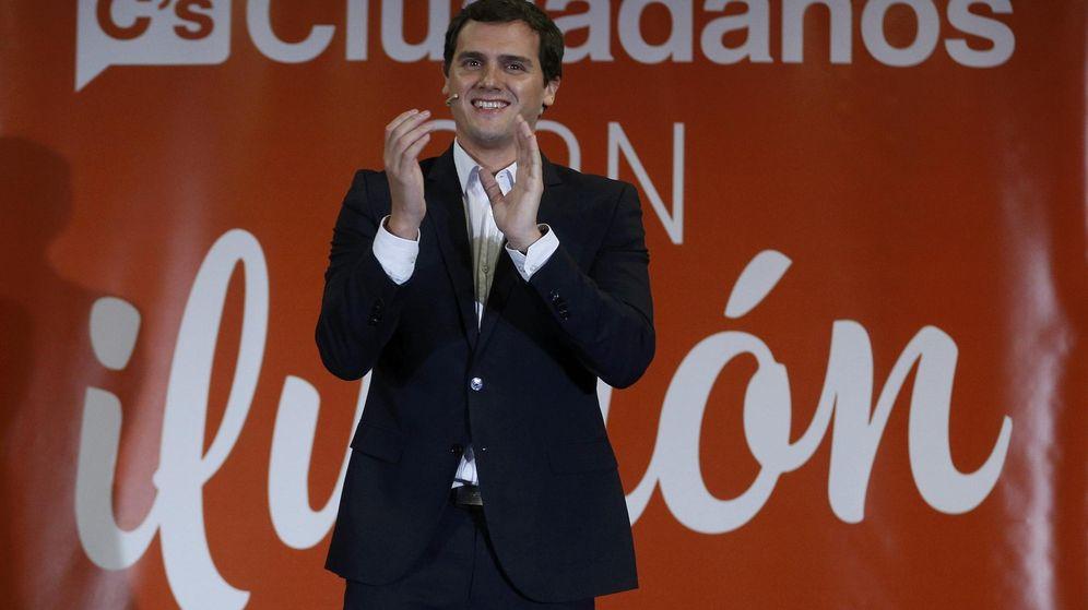 Foto: El líder de Ciudadanos, Albert Rivera, en el acto político previo al inicio de la campaña electoral. (Reuters)